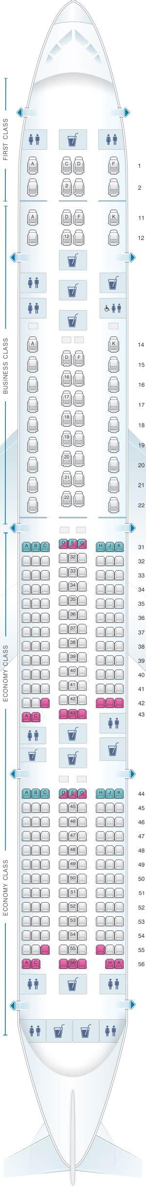 siege boeing 777 plan de cabine singapore airlines boeing b777 300er three