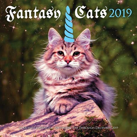 fantasy cats  wall calendar