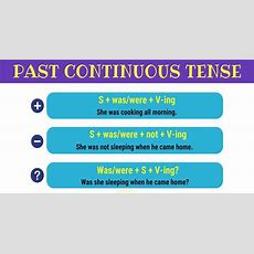 Past Continuous Tense Useful Rules And Examples  7 E S L