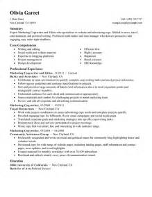 resume sle for editing best copywriter and editor resume exle livecareer