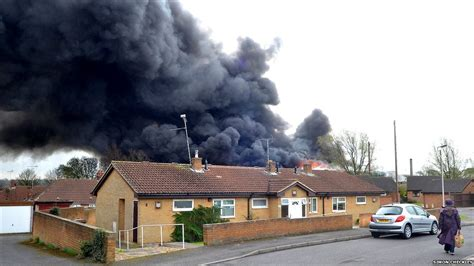 bbc news  pictures mansfield asbestos fire fear