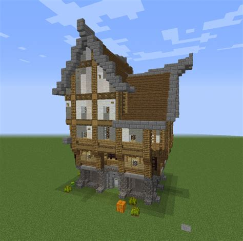 runiya medieval house  blueprints  minecraft houses castles towers   grabcraft