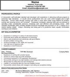 personal statement exles curriculum vitae مجموعة زمان للخدمات الغذائية cv personal statement exles retail