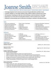 Skills For Teaching Resume by Elementary Resume Sle Resume Template 2017