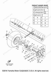 Yamaha Side By Side 2009 Oem Parts Diagram For Rear Wheel