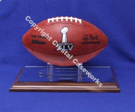 football wood display stand  custom ball holder custom display case