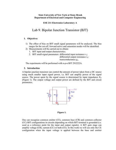 Lab Bipolar Junction Transistor Bjt