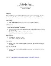 sle high school student resume for scholarships sles of resumes