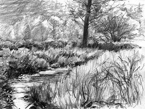 Pencil Sketches Of Nature Scenery