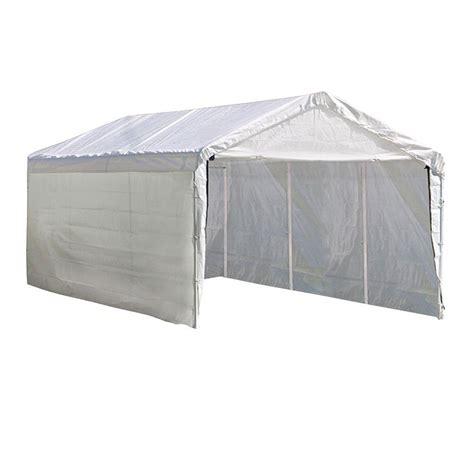 heavy duty canopy shelterlogic max 10 ft x 20 ft 2 in 1 white heavy