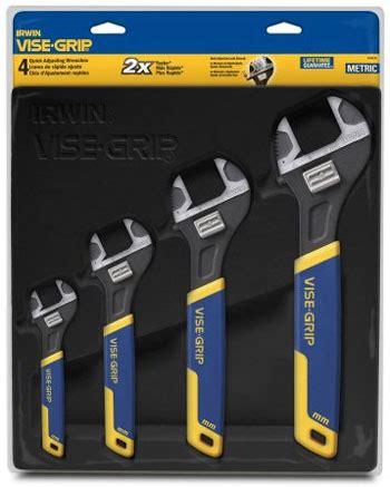 irwin metric adjustable wrench set  sizes