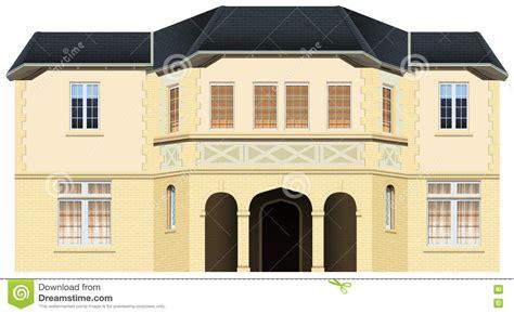 Maison De Luxe Avec Beaucoup De Fenêtres Illustration De