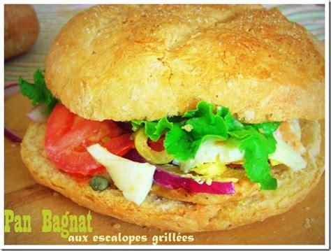 recette de cuisine facile et rapide avec photo pan bagnat ou bagnat sandwich niçois le
