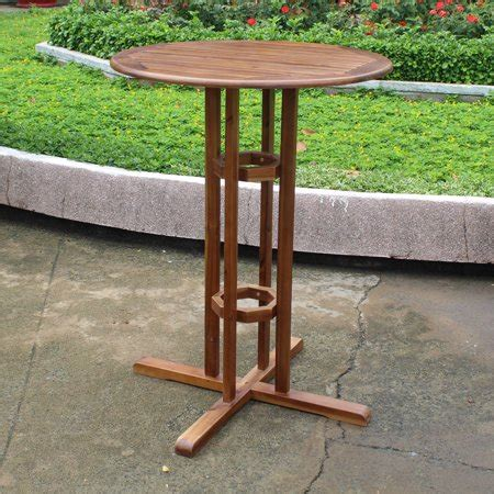 highland acacia wood bar height bistro table walmartcom