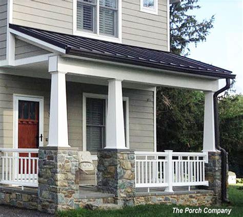 front porch banisters vinyl porch railing ideas for porches and decks