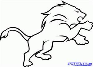 How to Draw the Detriot Lions, Step by Step, Sports, Pop ...