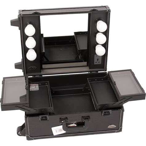 rolling makeup with lights justcase pro studio makeup rolling cosmetic