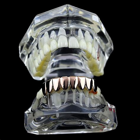 gold grillz rose bottom tooth teeth 14k eight low grills pre lower description