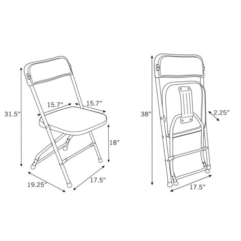 Samsonite Folding Chair Dimensions by Samsonite 2200 Series Injection Mold Folding Chair