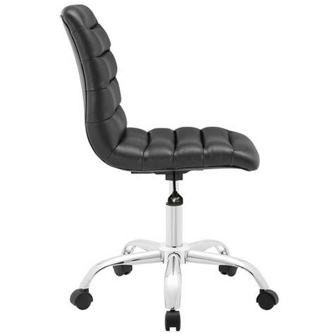 ripple armless mid back office chair modern in designs