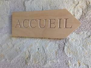 Pancarte En Bois : pancarte accueil en bois usinage 37 ~ Teatrodelosmanantiales.com Idées de Décoration