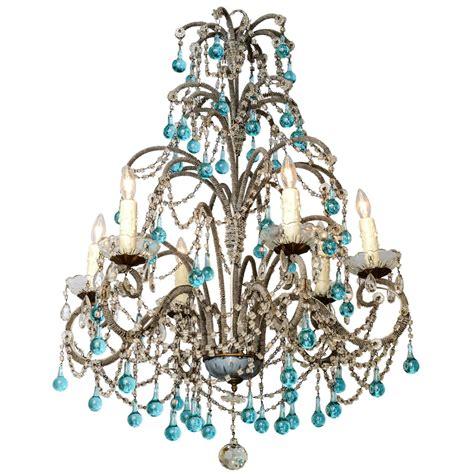 turquoise chandeliers italian beaded arm six light chandelier with turquoise
