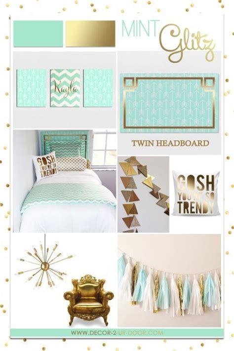 mint green bedroom decor mint and gold sorority and dorm room bedding and decor 16204 | ad29f9669a32186595afc9b75c006e15