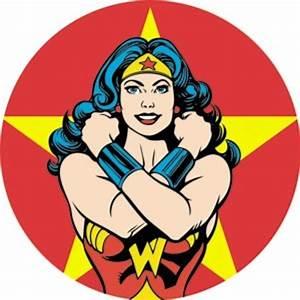 Wonder Woman Closeup Button