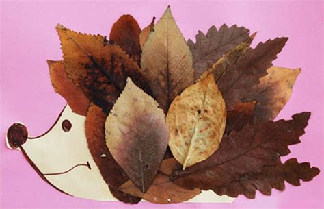 idee  creare animali  le foglie autunnali