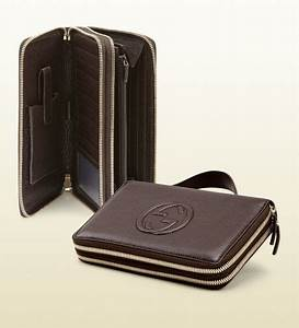 gucci soho leather travel document case in brown for men With travel document case