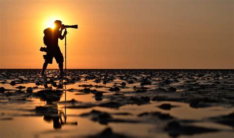 Photographer, Photography, Landscape, Water, Sun, Sunset