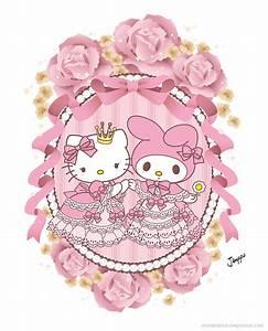 My Melody / Hello Kitty - Rococo Medallion by Marukuki on ...