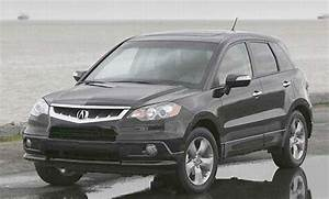 Speeding Silver 2007 Acura RDX Turbo SUV Photo Pictures