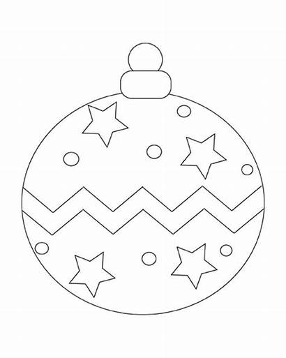 Christmas Ornaments Coloring Ornament Printable Ball Pages