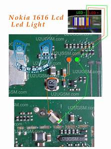 Nokia 1800  1616 Lcd Led Keypad Lights Solution Jumpers