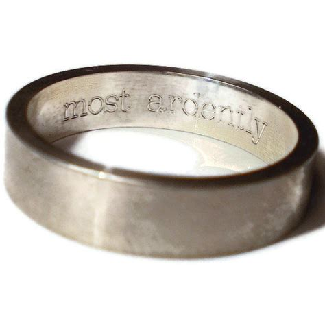 2 wedding rings engraved message sterling silver bands