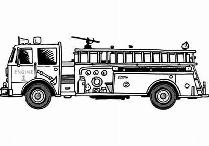 Fire Coloring Truck Printable Camion Colorare Feuerwehr