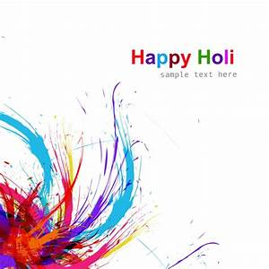 Holi festival background Vector | Free Download
