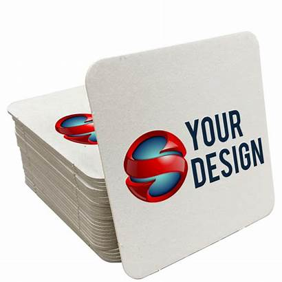 Coasters Square Paper Promotional Sample