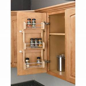 shop rev a shelf wood in cabinet spice rack at lowescom With kitchen cabinets lowes with how to get stickers off wood