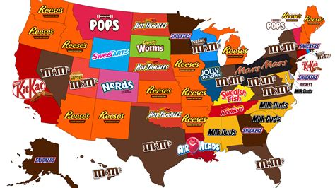 All 50 states most popular Halloween candies according to