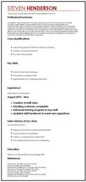 curriculum vitae references format cv exle with references myperfectcv