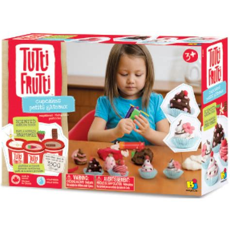 jeux de pate a modeler pour fille petits gateaux muffins cupcakes tutti frutti rehydratable pate a modeler plasticine ne s emiette