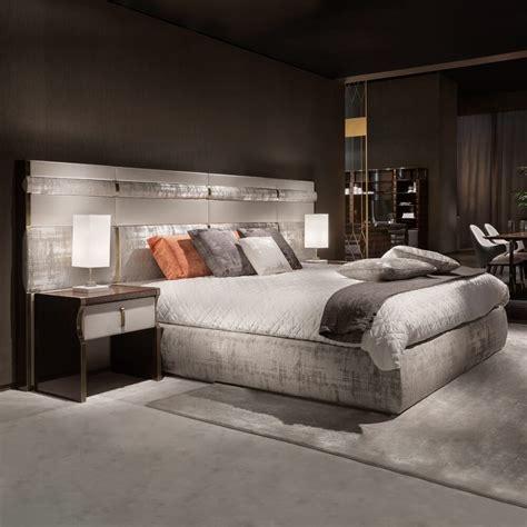 large futon luxury italian bed with large nubuck leather headboard