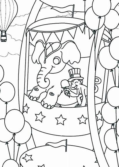 Coloring Carnival Pages Wheel Ferris Printable Circus