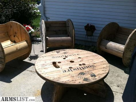 armslist for sale rustic patio furniture cable spools
