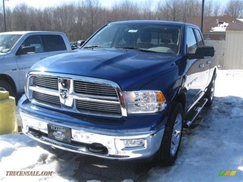 2011 Dodge Ram 1500 Slt Quad Cab 4x4 In Deep Water Blue