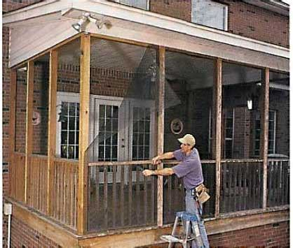diy screened in porch do it yourself screened porch today s homeowner windows