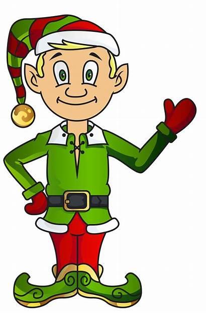 Elf Elves Clipart Christmas Clip Transparent Resolution