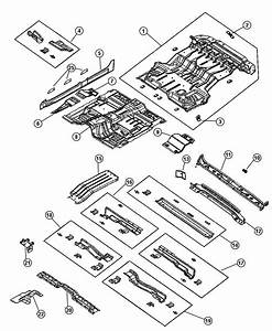 2000 Dodge Durango Pan  Rear Floor  Pans  Mopar  Body